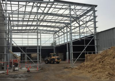 Structural steel for the covered storage area