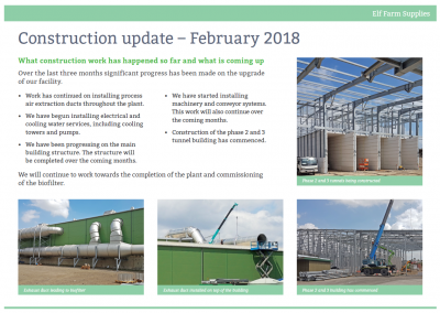 Construction Update February 2018